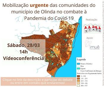 Mobilização URGENTE da comunidades do município de Olinda-PE